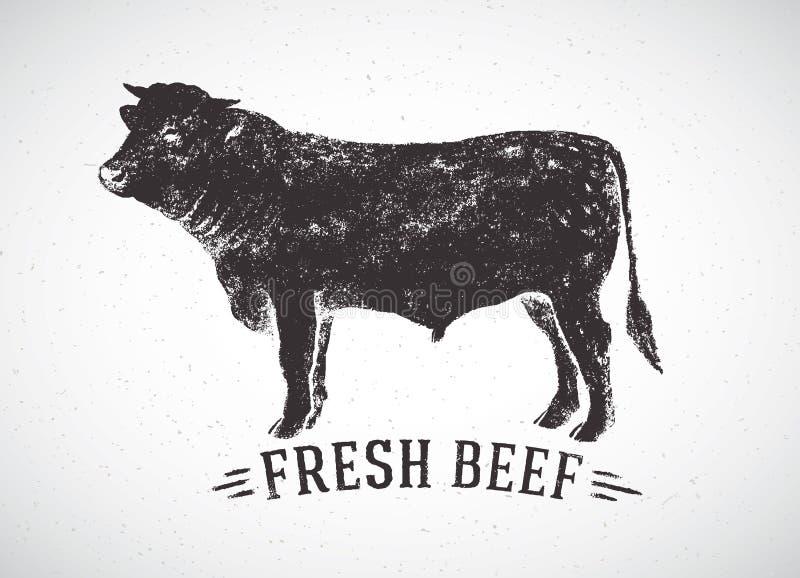 Graphical bull. stock illustration