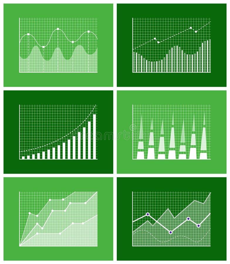 Graphical Diagram Poster Set Vector Illustration stock illustration