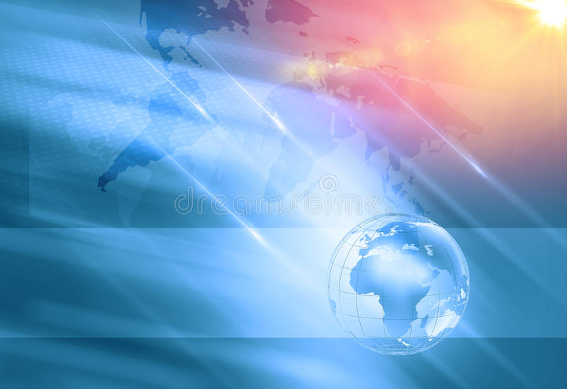 Graphical Digital Technology World Background, With World Map an royalty free stock images