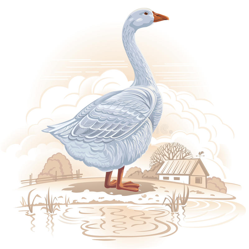Graphical goose royalty free illustration