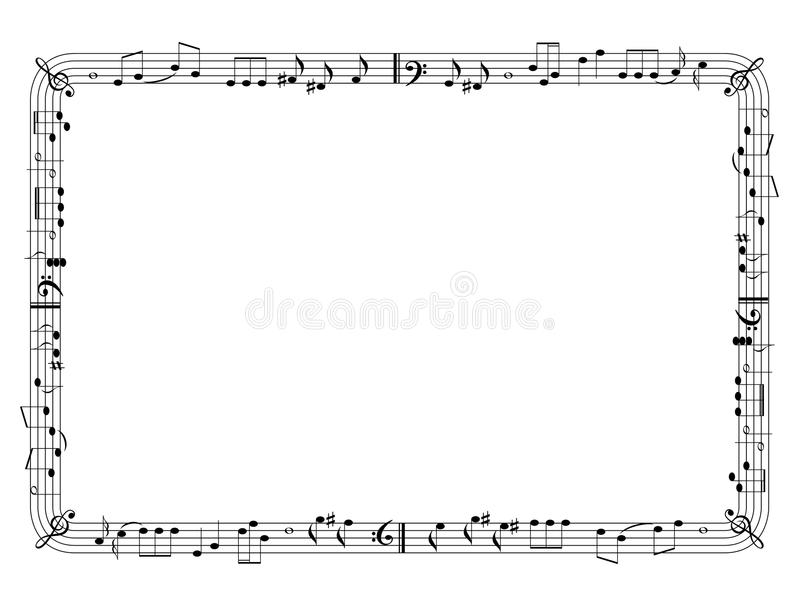 Graphical music frame royalty free illustration