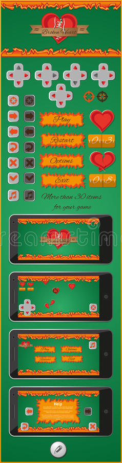 Download Graphical User Interface For Games 3 Stock Vector - Illustration: 32943423