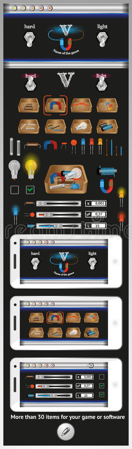 Download Graphical User Interface For Games And Software Stock Vector - Illustration: 33009831