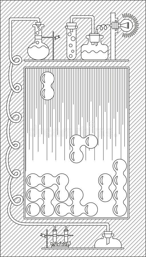 Graphical user interface. (GUI) and the playing field for a computer game, mobile game and application. Vector illustration. Black and white stock illustration