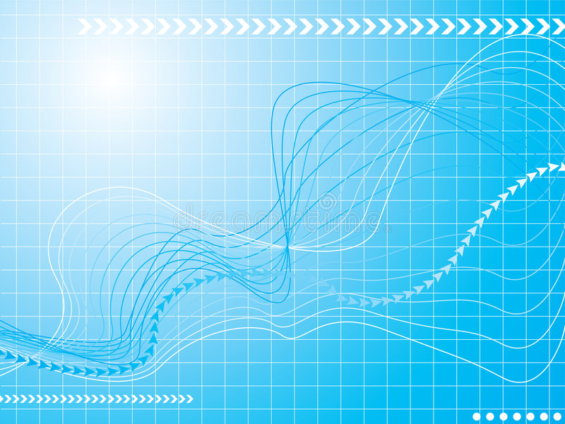 Graphical wave stock illustration