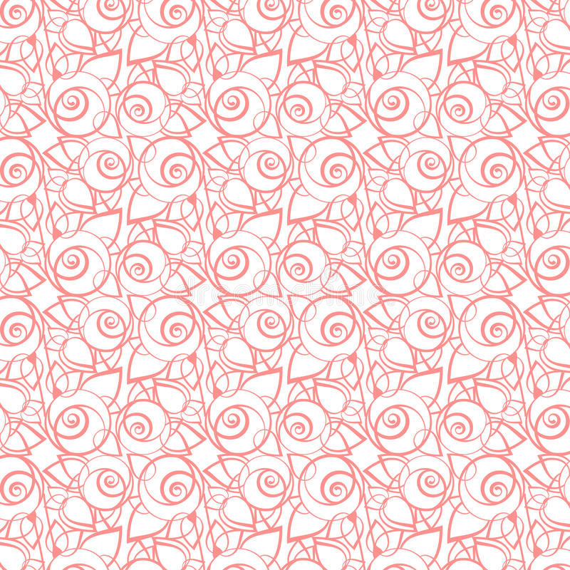 Graphically floral pattern for the holidays royalty free illustration