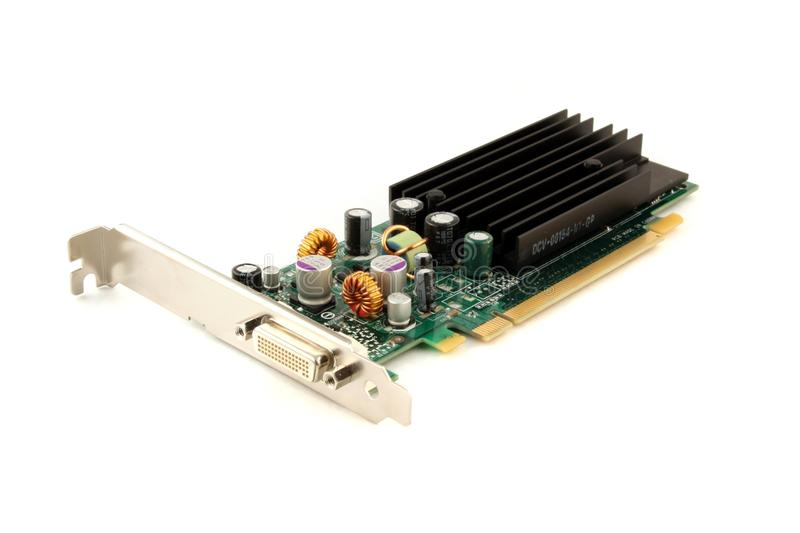 Graphics Card Isolated On White Stock Photo