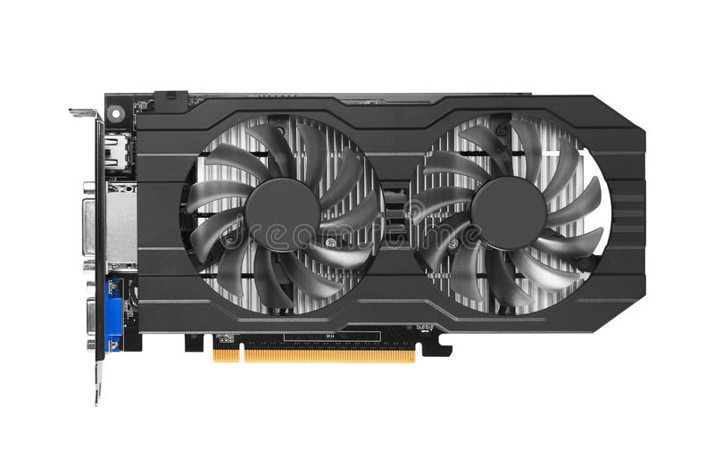 Graphics card. Isolated on white background royalty free stock photo