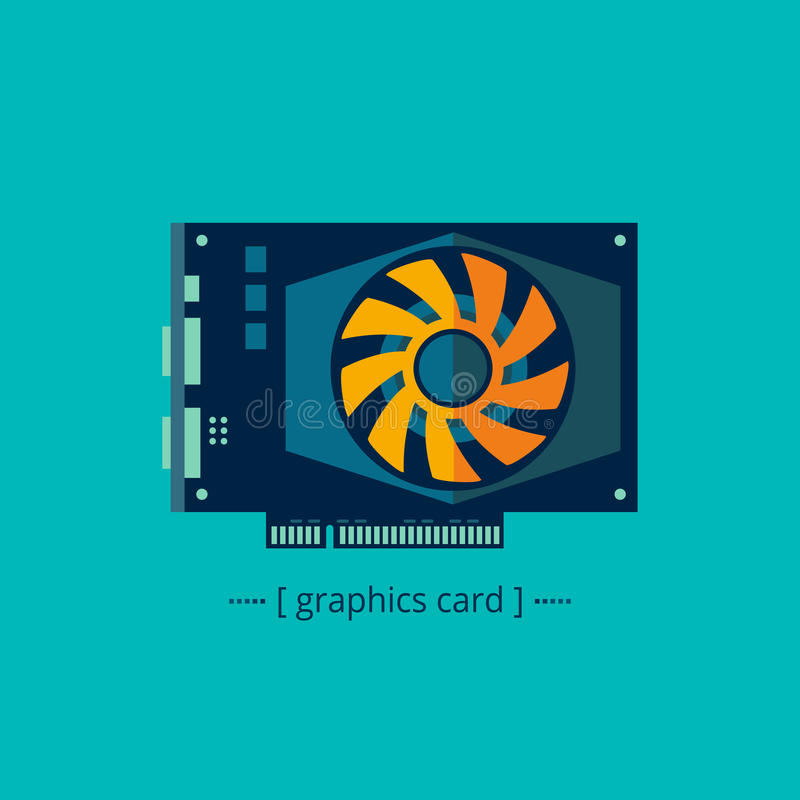 Graphics card royalty free illustration