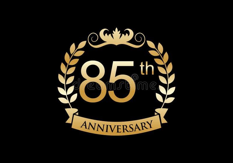 85th, anniversary celebration luxury logo royalty free illustration