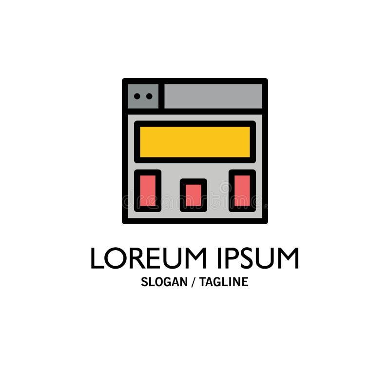 Graphics Design, Layout Business Logo Template. Flat Color vector illustration