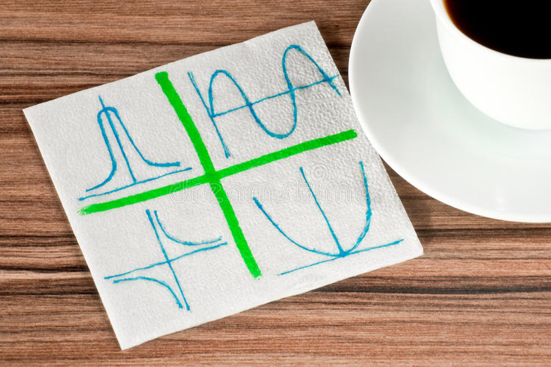 Graphics On A Napkin Royalty Free Stock Photography
