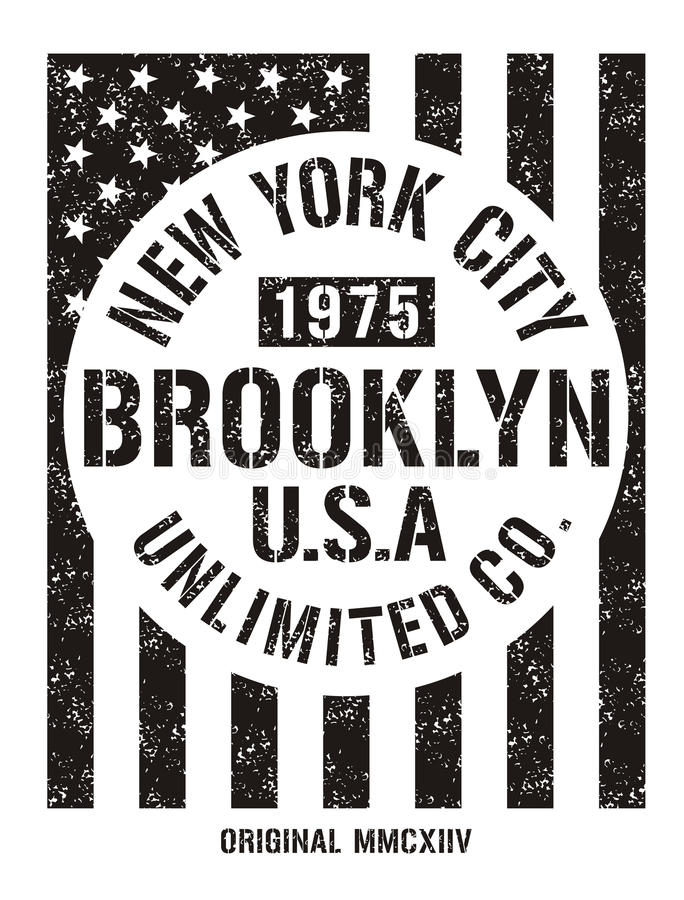 New York City Retro Vintage Typography Poster, T-shirt