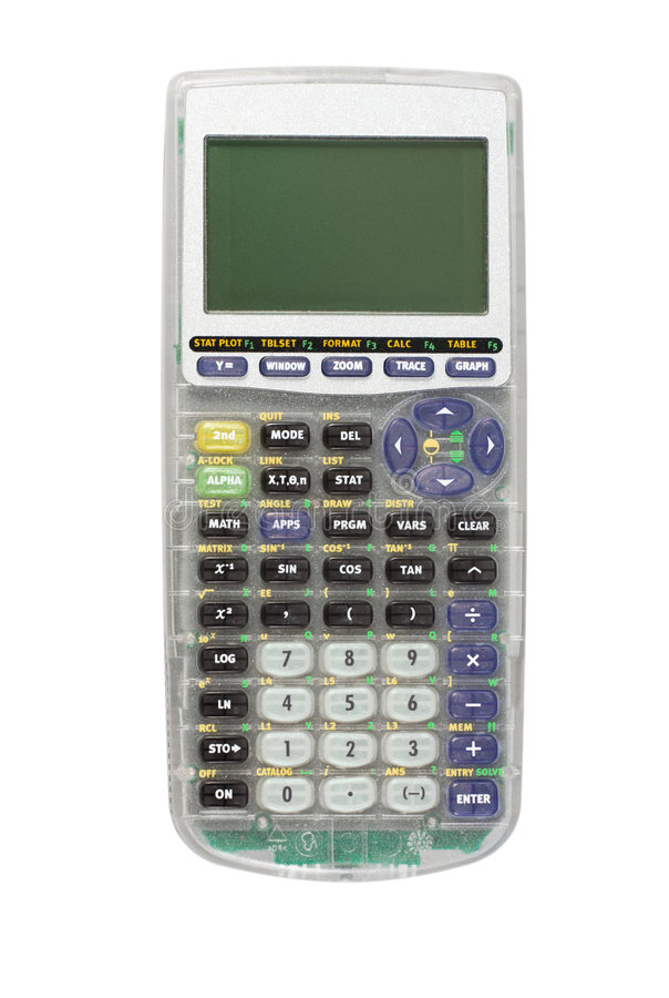 Graphing Calculator Isolated stock photos