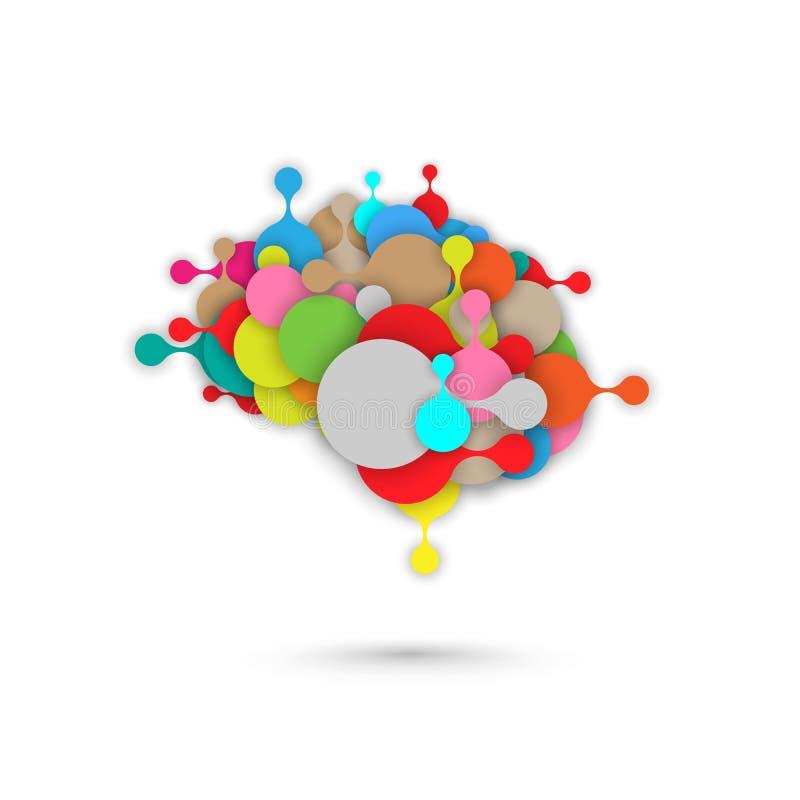 Graphique abstrait de metaball de vecteur de cerveau illustration libre de droits