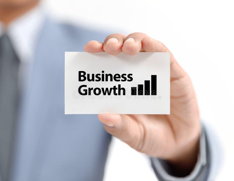 Graphique actuel d'homme d'affaires avec la croissance images libres de droits