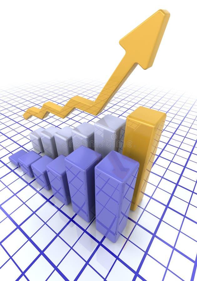 Graphique affichant des bénéfices en hausse illustration stock