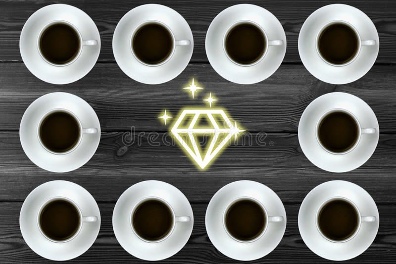 Graphique avec du café images stock