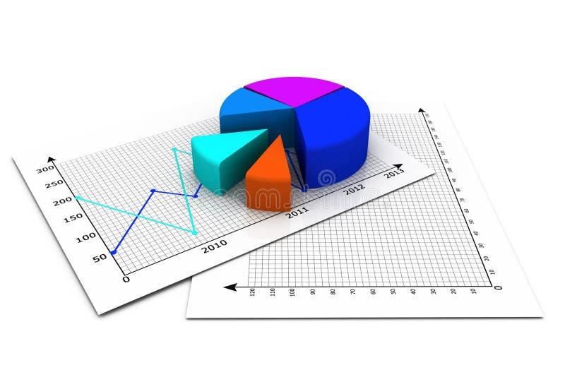 Graphique circulaire d'affaires illustration de vecteur