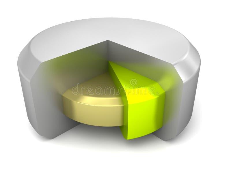 Graphique circulaire en métal 3D futuriste illustration libre de droits