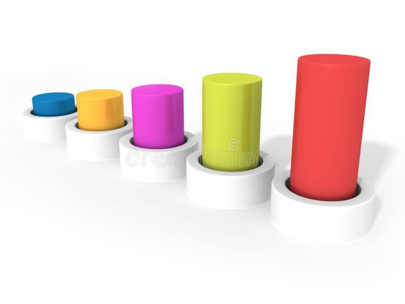Graphique coloré d'histogramme d'affaires illustration libre de droits