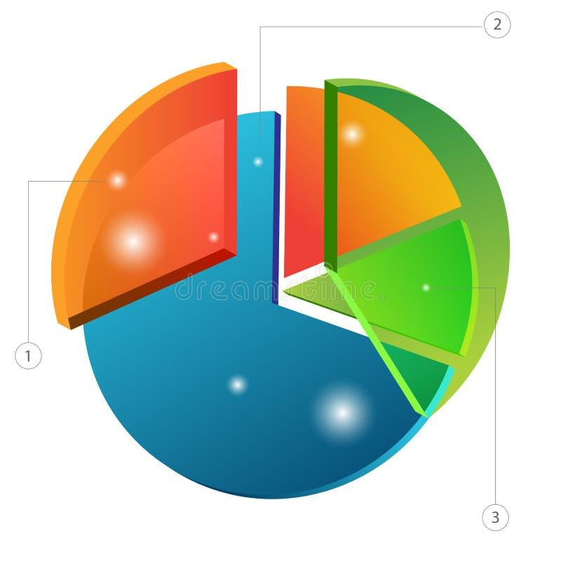 graphique 3d circulaire de recouvrement illustration stock