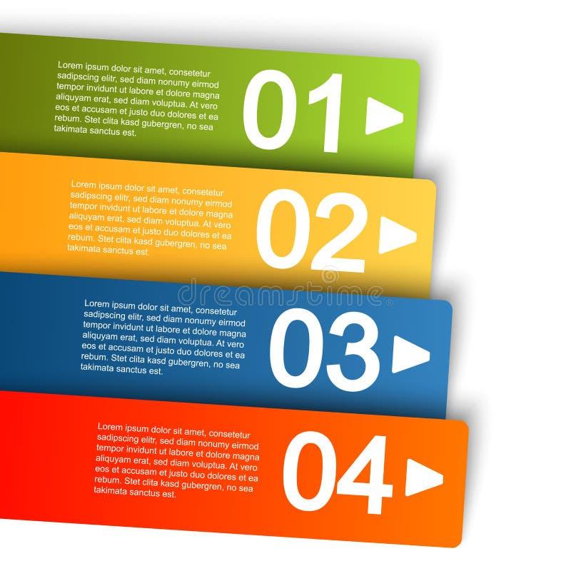 graphique d'infos avec quatre options illustration stock