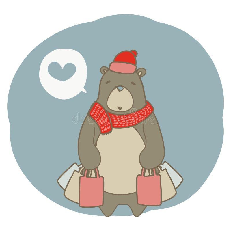 Graphique d'ours brun de achat image stock