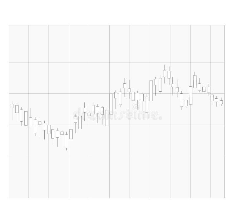 Graphique de bâton de bougie sur le fond transparent tendance des sig de graphique illustration de vecteur