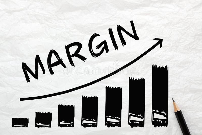 Graphique de concept de marge photos libres de droits