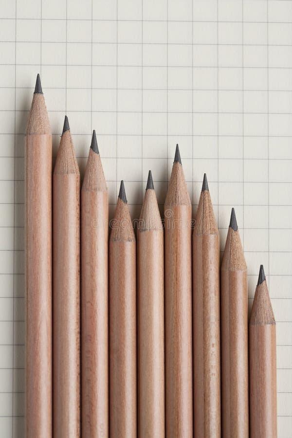 Graphique de crayon images libres de droits