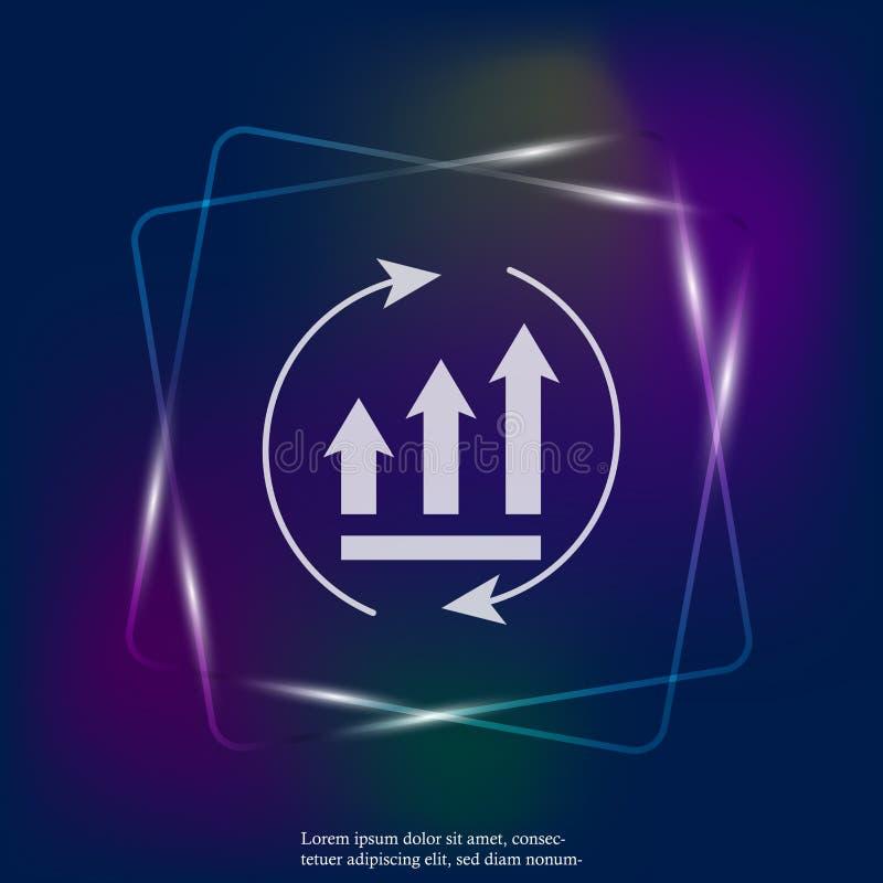 Graphique de croissance avec des flèches en cercle  Couches groupées pour l'illustration de édition facile pour illustration libre de droits