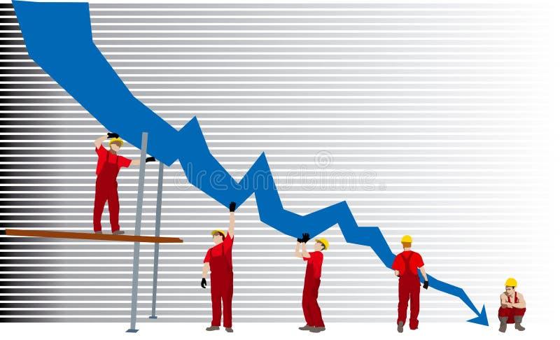 Graphique de faillite commerciale illustration stock