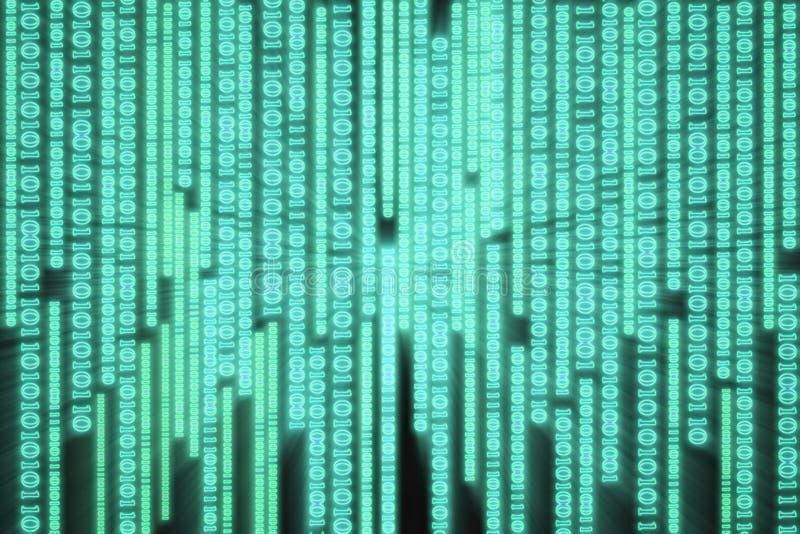 Graphique de flux de données binaires d'ordinateur illustration de vecteur