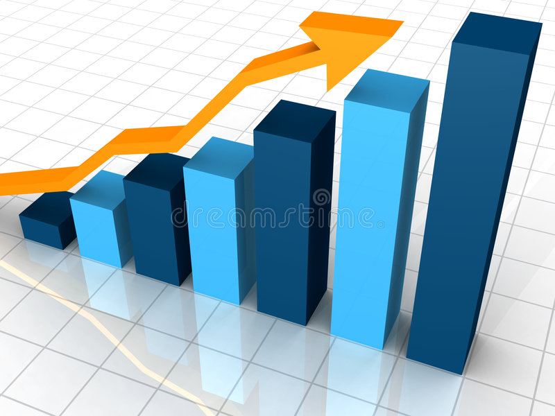 Graphique de gestion photographie stock