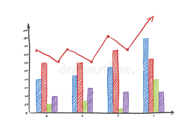 Graphique de gestion coloré de finances photos libres de droits