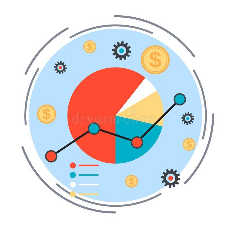 Graphique de gestion, concept financier de statistiques illustration libre de droits