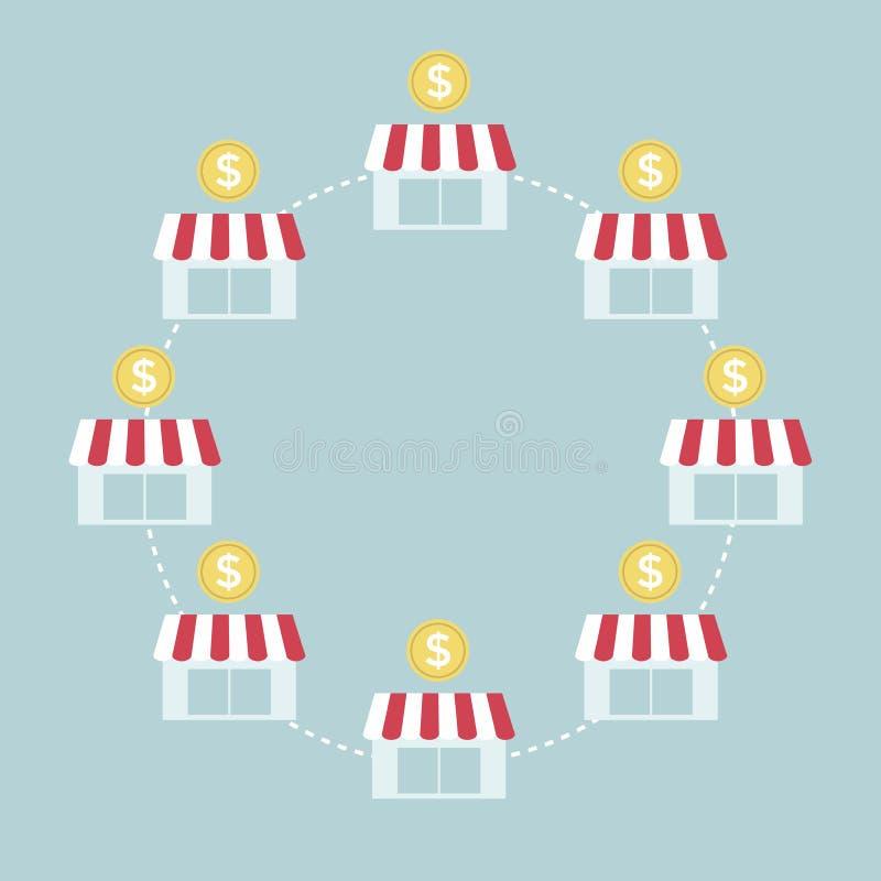 Graphique de gestion de concession illustration stock