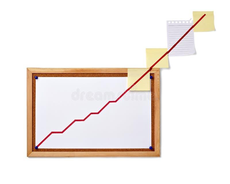 Graphique de gestion de finances sur l'économie de corkboard photos libres de droits