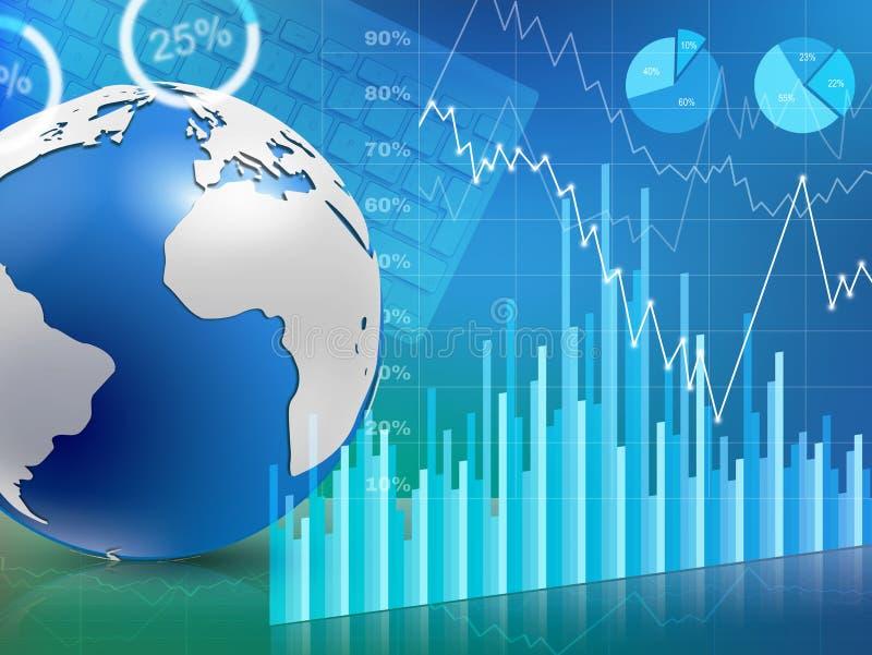Graphique de gestion globale illustration stock