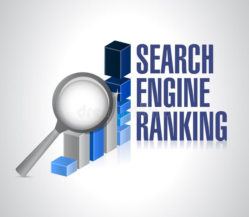 Graphique de gestion. recherche de rang de moteur de recherche. illustration de vecteur