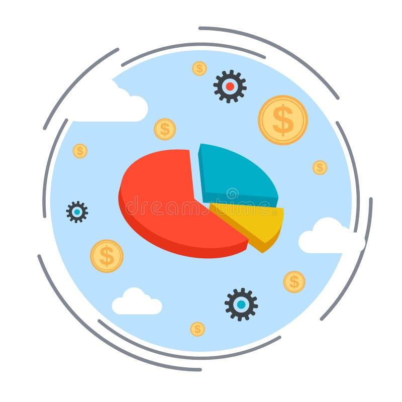 Graphique de gestion, statistiques financières, concept d'analyse des marchés illustration libre de droits