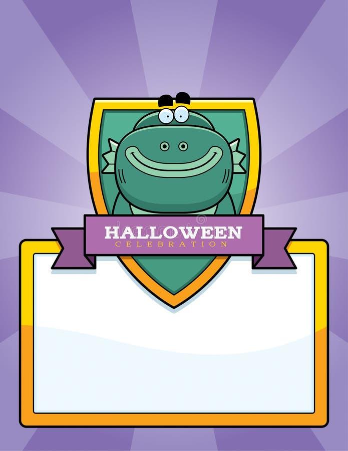 Graphique de Halloween de créature de bande dessinée illustration de vecteur