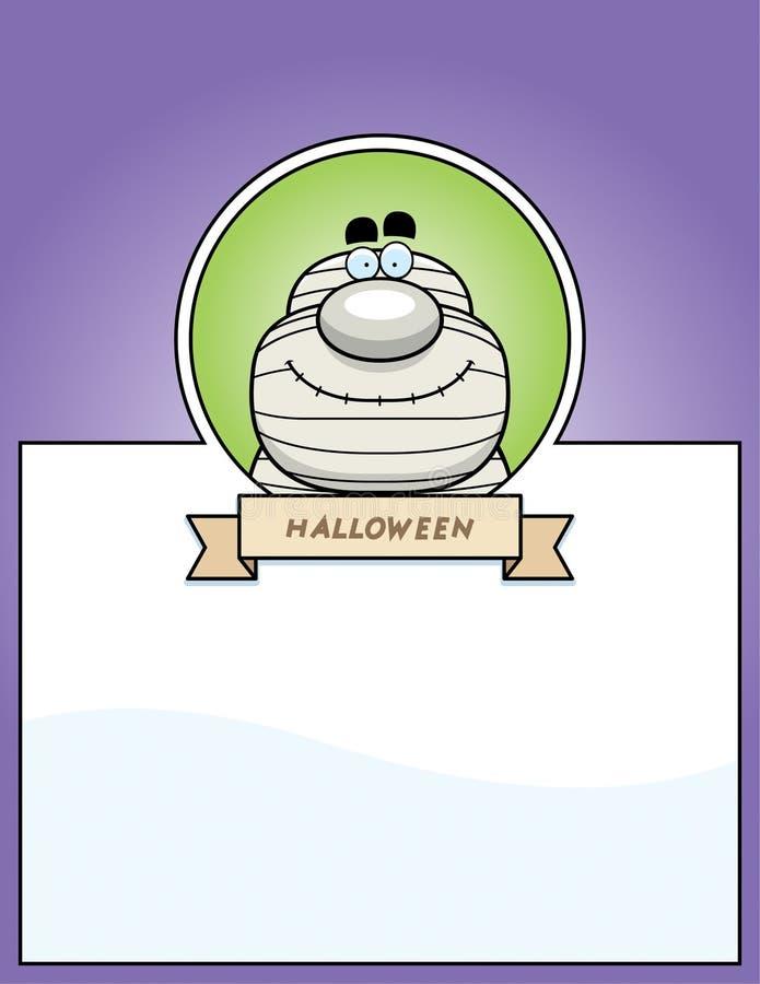 Graphique de Halloween de maman de bande dessinée illustration stock