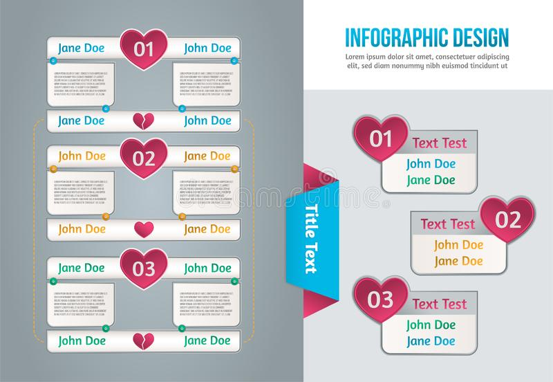 Graphique de l'information, grande conception pour tous buts Internet bleu de concept de couleur de fond image libre de droits