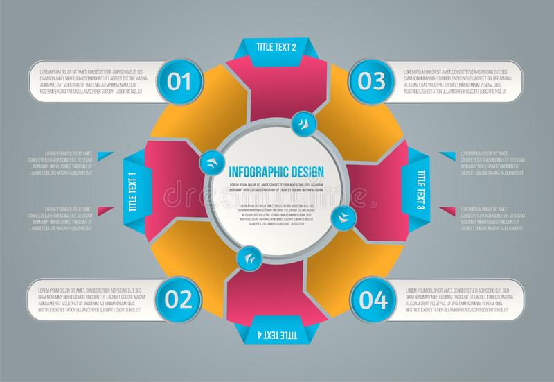 Graphique de l'information pour la conception de l'avant-projet Infographics de vecteur Diagramme de vecteur photo libre de droits