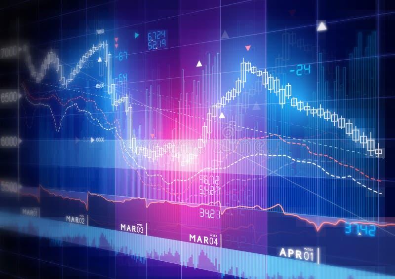 Graphique de marché boursier illustration de vecteur
