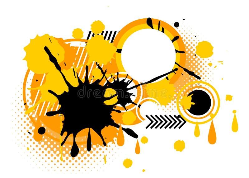 Graphique de peinture d'éclaboussure de fond sur le fond blanc illustration libre de droits