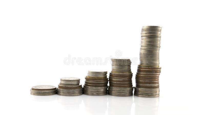 Graphique de pièce de monnaie sur le fond blanc photo libre de droits