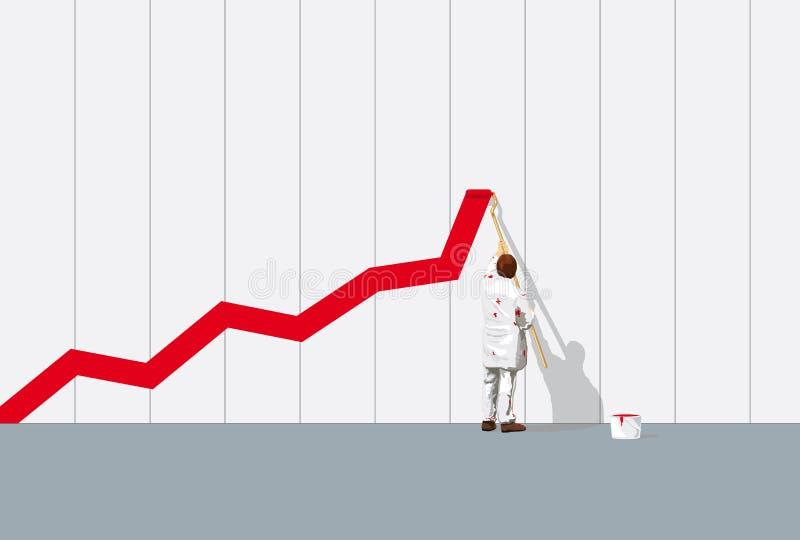 Graphique de réussite illustration stock